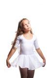 Little ballet dancer dancing isolated on white Stock Images