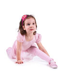 Little ballet dancer isolated Stock Photos