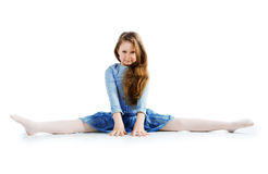 Little ballet dancer isolated Stock Photography