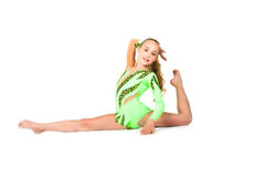 Little ballet dancer isolated Stock Photography