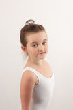 Little ballet dancer looking at the camera 3 Royalty Free Stock Photos