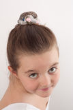 Little ballet dancer looking at the camera 4 Stock Photos