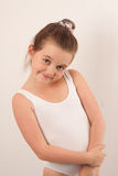 Little ballet dancer looking and at the camera 5 Royalty Free Stock Photography