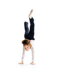 Little ballet dancer make handstand Stock Photography