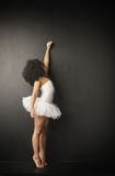 Little ballet dancer making drawings Stock Photo