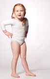 Little ballet dancer playing 8 Royalty Free Stock Photos