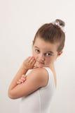 Little ballet dancer smiling at the camera Stock Image