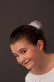 Little ballet dancer smiling and looking aside 2 Stock Photo