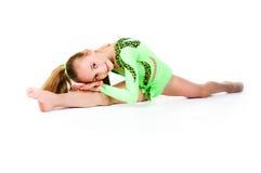 Little ballet dancer on white Royalty Free Stock Photos