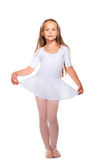 Little ballet dancer on a white Royalty Free Stock Images