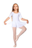 Little ballet dancer on a white Royalty Free Stock Image
