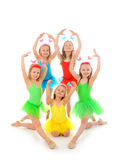 little ballet dancers royalty free stock photography