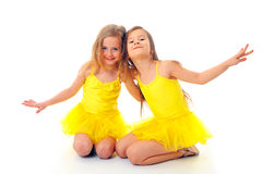 Little ballet dancers Stock Images