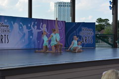 Little ballet dancers on stage. Disney performing arts Stock Photography