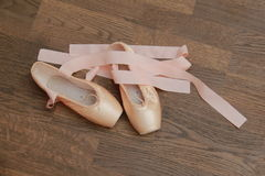 Little ballet shoes Royalty Free Stock Photos
