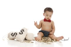 Little Banker Royalty Free Stock Image