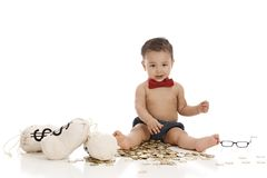 Little Banker Royalty Free Stock Photos