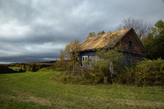 Little barn during fall season Royalty Free Stock Image
