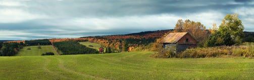 Little barn during fall season Royalty Free Stock Photos