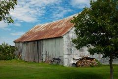 Little barn during fall season Royalty Free Stock Photo