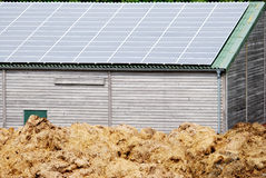 Little Barn with solar cells Stock Image