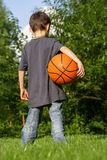 Little basketball player Royalty Free Stock Images