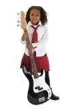 Little Bass Player Stock Photo