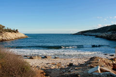Little bay with blue water Royalty Free Stock Photo