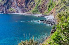 Little bay on Madeira island, Portugal Stock Photography