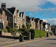 Oban waterfront hotes. The Little Bay at Oban in western Scotland is lined with  old homes, now alloperating as hotels Stock Photos