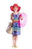 Little beach girl Stock Photography