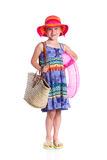 Little beach girl Royalty Free Stock Images