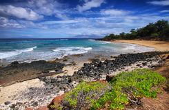 Little beach of Makena beach State park, Royalty Free Stock Image