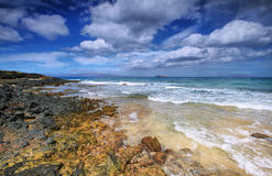 Little beach of Makena beach State park, Royalty Free Stock Photography