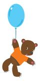 Little bear with balloon Stock Photo
