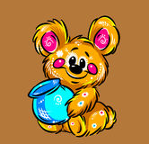 Little bear bright fantasia and honey Royalty Free Stock Photos