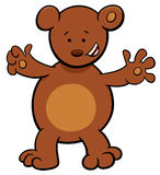 Little bear cartoon character Royalty Free Stock Images