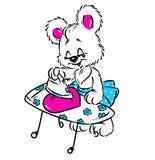 Little Bear iron heart valentine bear Royalty Free Stock Photography