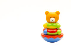 Little bear toy on white background Stock Photos