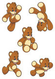 Little bears collection Royalty Free Stock Photos