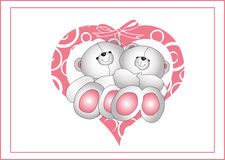 Little bears in love Royalty Free Stock Image