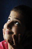 Little beautiful arabic Muslim girl Stock Images