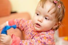 Little beautiful baby girl Stock Photo