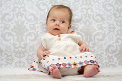 Little beautiful baby girl Royalty Free Stock Image
