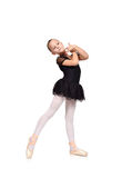 Little beautiful ballerina dancing Stock Photos
