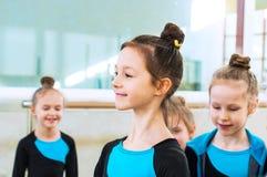 Little beautiful ballet girls stock photo