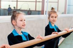 Little beautiful ballet girls royalty free stock image
