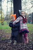 Little beautiful boy and girl Royalty Free Stock Photo