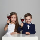 Little beautiful couple. beauty girl and handsome boy Royalty Free Stock Photo
