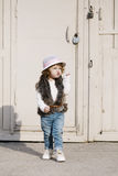 Little beautiful cute girl urban portrait Royalty Free Stock Photos